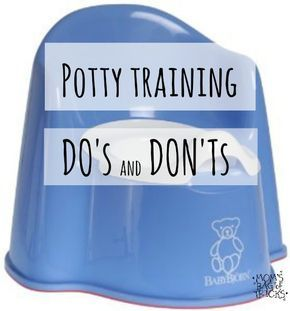 Potty Training-Where to begin? Try these Do's and Don'ts