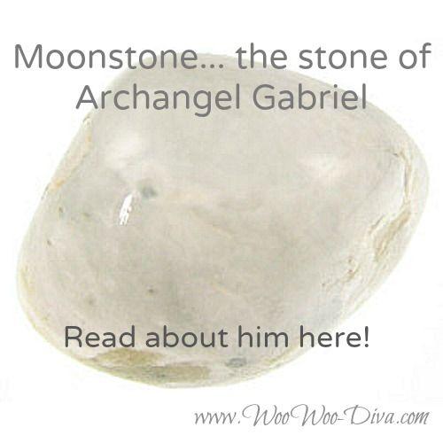 Moonstone...the stone of Archangel Gabriel. Read about it here!  www.woowoo-diva.com/gabriel-archangel.html