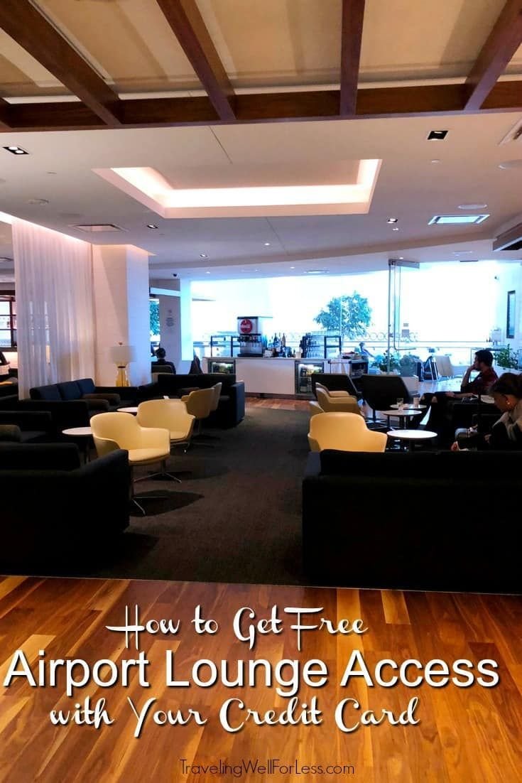 do airport lounges have free food