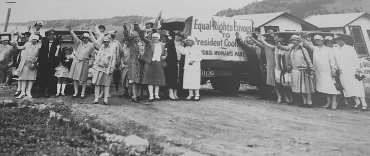 Equal Rights envoys from the National Woman's Party went to see President Coolidge to obtain his support in passing the Equal Rights Amendment.