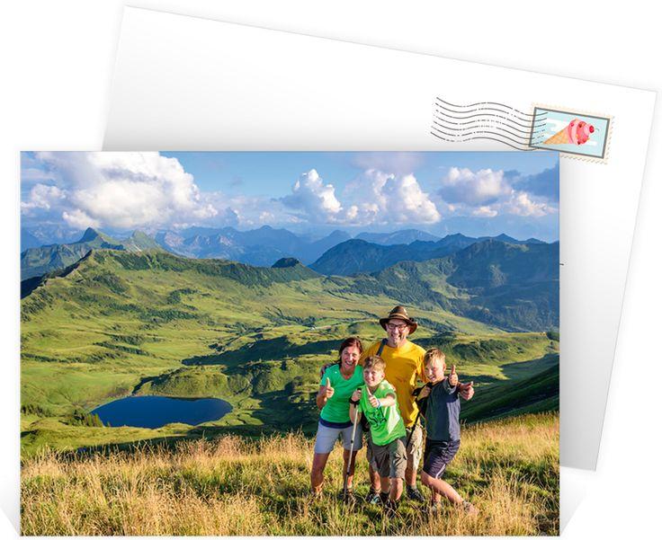 Carte postale personnalisée à envoyer à vos proches pour partager vos plus beaux souvenirs à la montagne, ref N14171