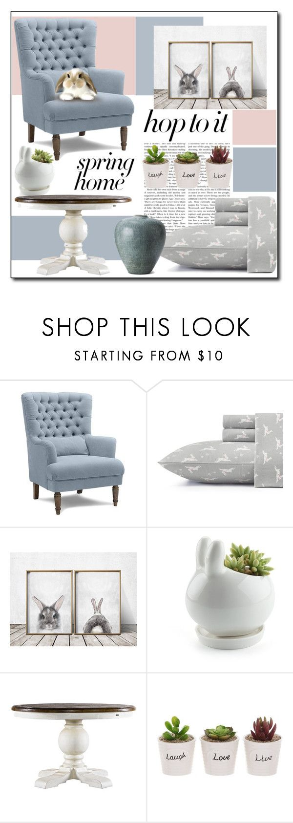 """Bunny Home"" by polybaby ❤ liked on Polyvore featuring interior, interiors, interior design, home, home decor, interior decorating, Laura Ashley, springhome and bunnydecor"