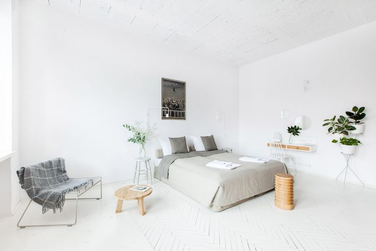 all white wall paint minimal home design