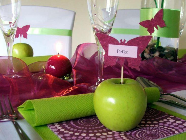 Výrazná kombinácia slivkovej a jabĺčkovo-zelenej