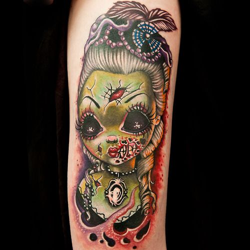 Ink master rivals | tattoo competition reality show, Artists tattoo over serious scars and they try to beat tatu baby at her own game- day of the dead tattoos. Description from design.newtattoo.net. I searched for this on bing.com/images
