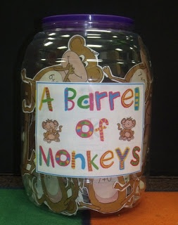Barrel of Monkeys for Sight words and math facts...