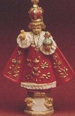 """4"""" Infant of Prague Resin Statue $8.95 USD. This statue of the Infant of Prague will make a wonderful gift! Perfect for First Communions, Confirmations, etc."""