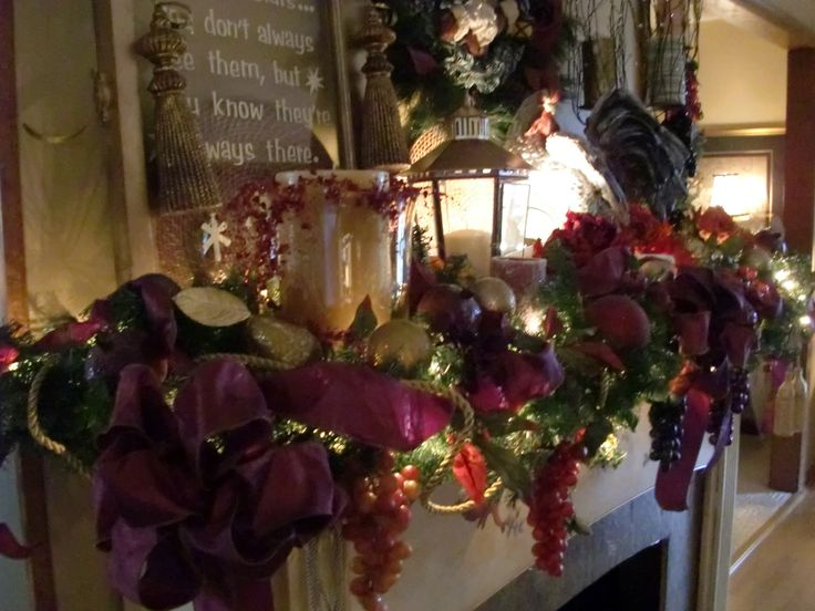 Decorated Christmas Fireplace Mantels | Fireplace Mantels Ideas Christmas  Mantels Decorating Ideas Christmas .