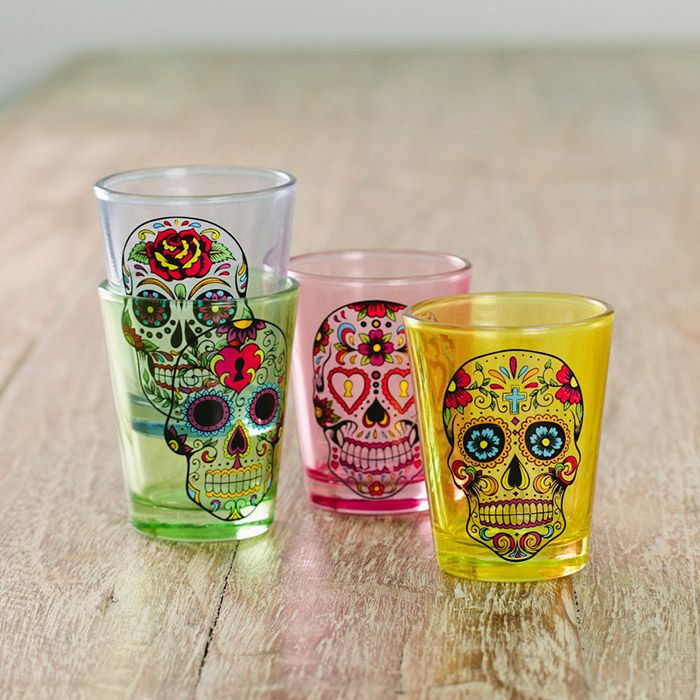 Sugar Skull Shot Glasses