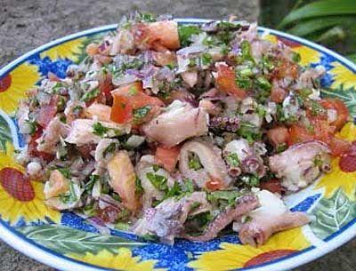 Receitas - Salada de polvo - Petiscos.com