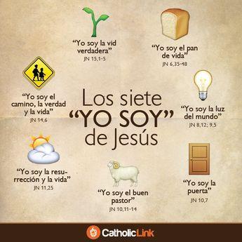 """Infografía: Los siete""""YO SOY"""" de Jesús tomados del Evangelio según San…"""