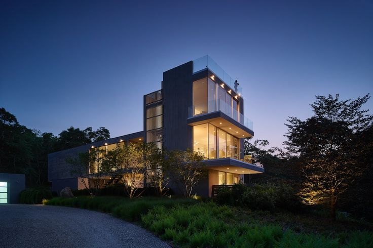 An existing three story house perched in the trees of Amagansett was in dire need of repair. Breathtaking views from the roof deck made the decision to renov...