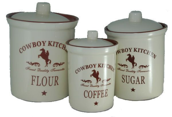 country canister set with barn stars | kitchen-canisters-cowboy-canisters.jpg