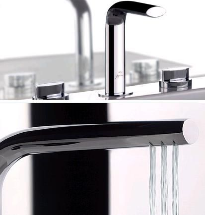 Guglielmi AG faucet from Hi Water collection - three water blades!