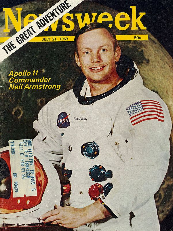 1969 Newsweek Magazine Cover of Apollo 11 Commander & Astronaut Neil Armstrong.