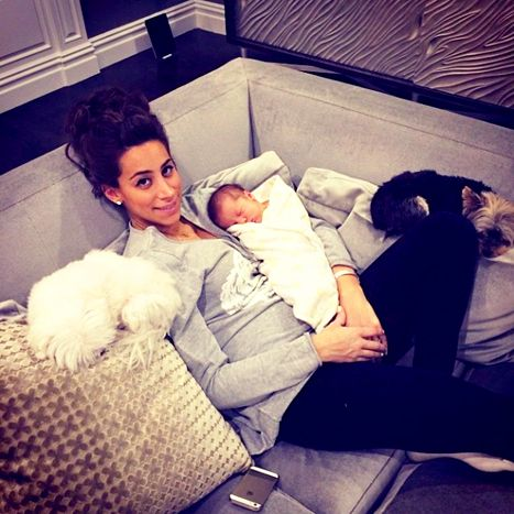 Danielle and Alena Rose Jonas with Macy and Riley