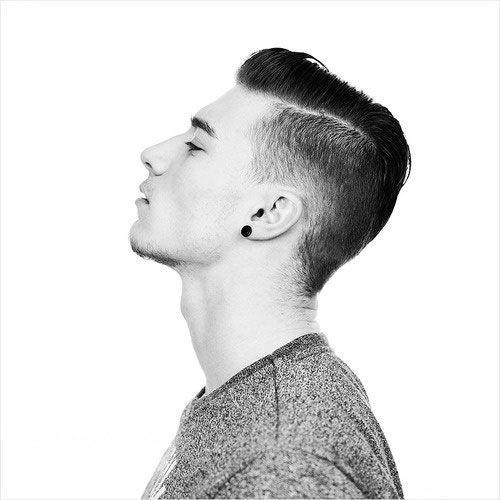 Mens short side haircut fade Mens Hair Pinterest