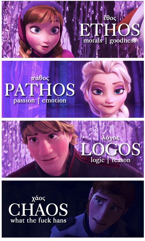 Ethos, Pathos, Logos, Chaos | Source: hail-queen-elsa on tumblr