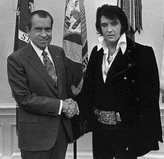 President Richard Nixon and Elvis.