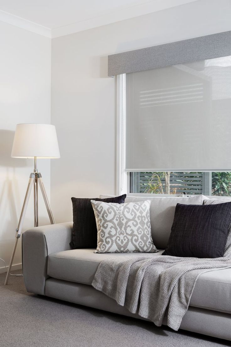 Modern 36 quot 40 quot blinds shades allmodern - Grey Coloured Pelmet And Translucent Roller Blind