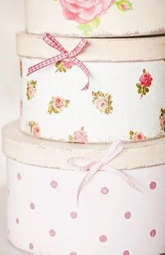 Vintage hat boxes are great decorative spaces for storage.