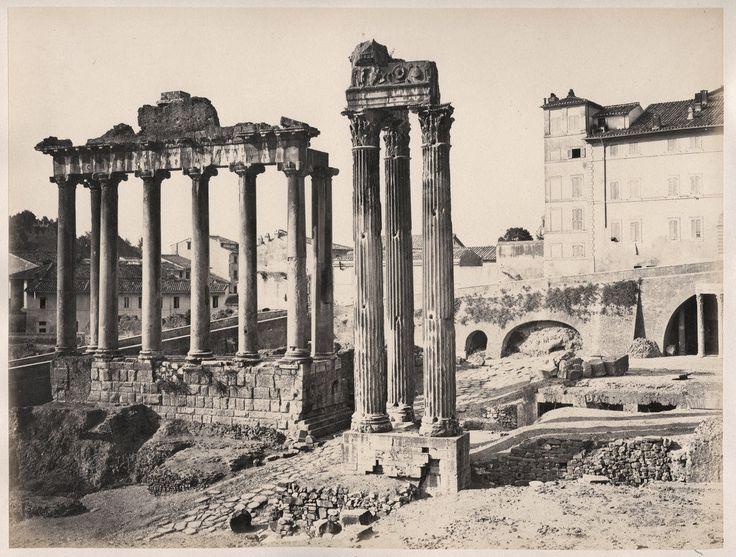 C 1860's Photo Italy Rome Temples of Saturn Vespasian | eBay