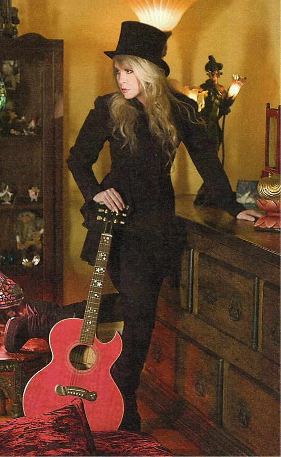 """Stephanie Lynn """"Stevie"""" Nicks (born May 26, 1948) is an American singer-songwriter, who in the course of her work with Fleetwood Mac and her extensive solo career, has produced over forty Top 50 hits and sold over 140 million albums."""