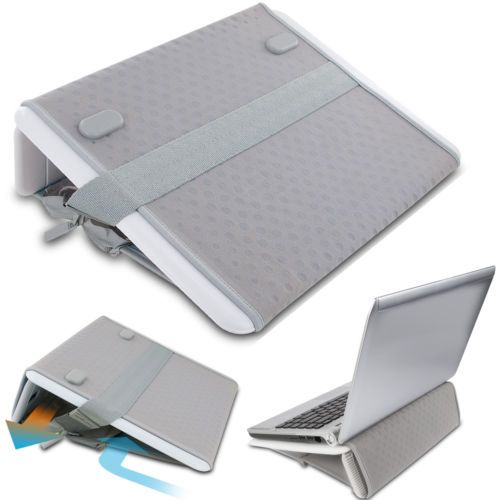 Laptop Lap Desk Portable Computer Desk Non Skid Travel Laptop Desk Gray New