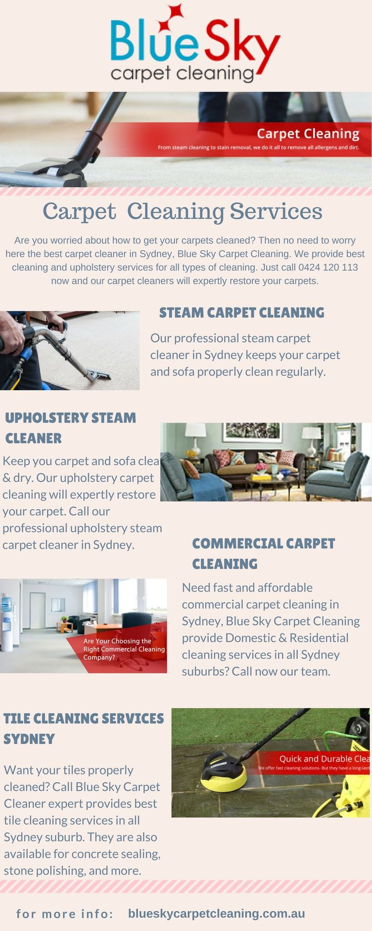 Special offer from Blue Sky #CarpetCleaning. Clean your 3 rooms at just $99 including prespray shampoo, stain treatment, heavy duty steam clean, sanitize, deodorise, and scotch guard.