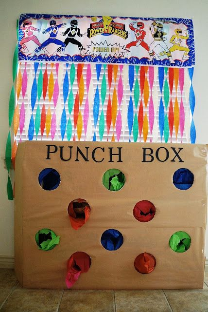 Party punch box - DIY - good for a carnival themed party!