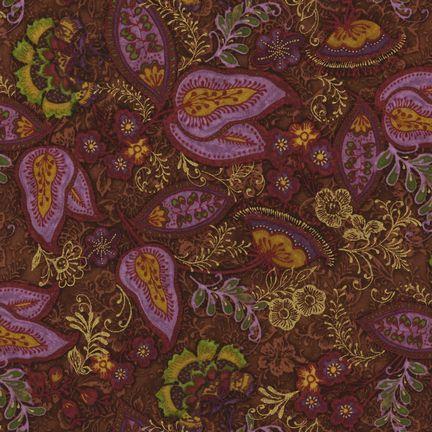 Robert Kaufman Fabrics: EUJM-6496-163 SPICE from Bohemian Rhapsody