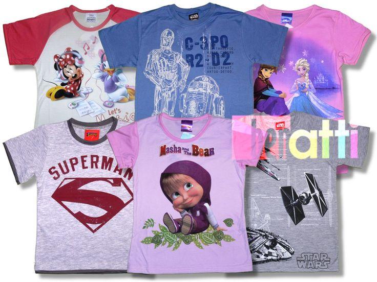 Detské tričká od Disney s rozprávkovými motívmi. Široký výber, vyrobené v EU.