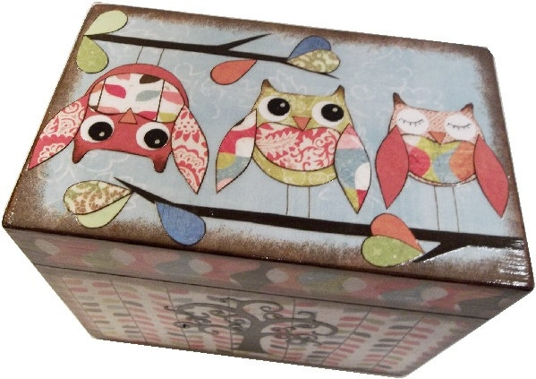 Recipe Box 4 x 6: Recipe Boxes, Woods Recipe, Order Custom, Order Decoupage, Card Owl, 4X6 Card, Treasure Boxes, Large Handcrafted, Handcrafted Boxes