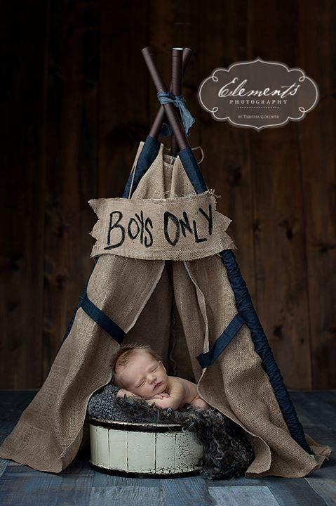 Soo cute!   teepee, play tent, photo prop  LUKE  burlap teepee tent photo prop by SugarShacksTeepee on Etsy, $75.00 boy