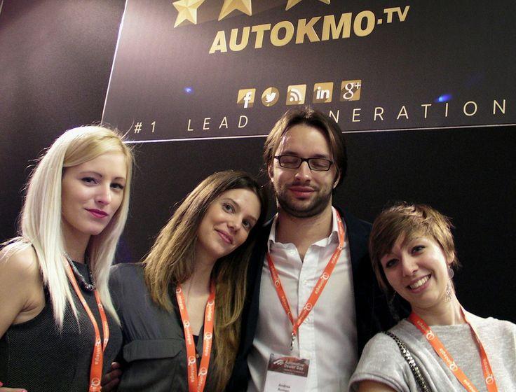 In estasi Andrea Romeo #PSA Peugeot Citroen allo stand Autokm0.tv @Quintegia #ADD14