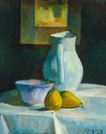 Czigány Dezső (1883-1938) Csendélet, 1912 körül Olaj, vászon, 48x39 cm