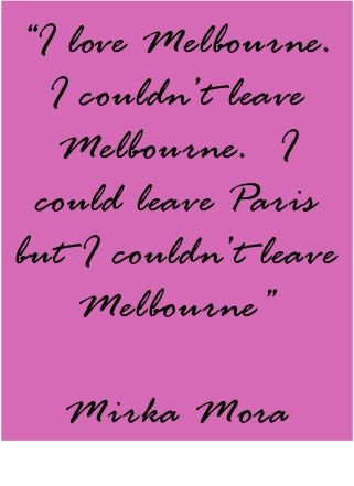 Paris born artist and Melbourne treasure Mirka Mora.