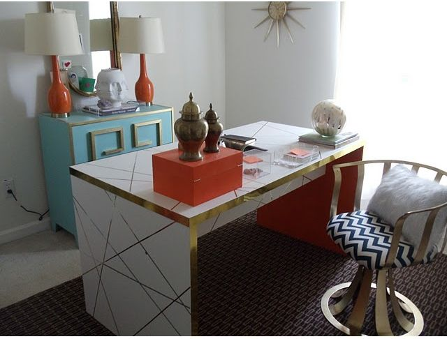 Hollywood Regency Diy Desk Table