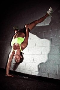 Lindsay Cappotelli  Now that's strength! Strength breeds confidence and independence.