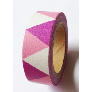 Solo Triangles Fanions Rose & Mauve - lovely tape - 3,00