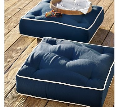 Piped Outdoor Floor Pillow