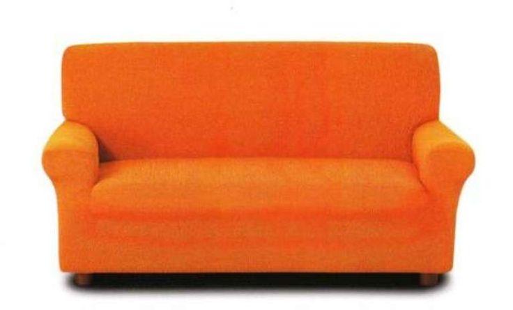 Copridivano arancione - Un copridivano arancione per rinnovare il divano con il fai da te.