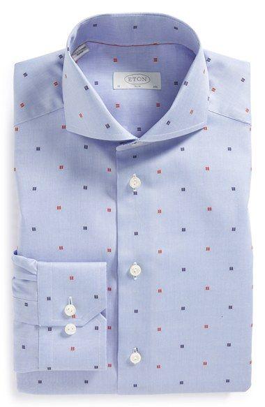 Eton Slim Fit Dot Dress Shirt available at #Nordstrom