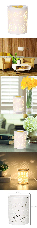 COOSA Ceramic Sunflower Pattern Oil Warmer Electric Incense Burner or Wax Tart Burner Night Light for Home Office Bedroom Living Room (Sunflower)