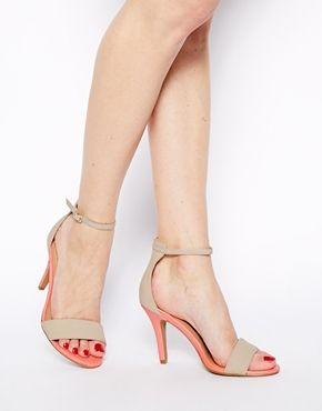 New Look Stylish 4 Cream Heeled Sandals shoes 2014 asos