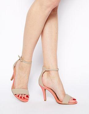 New Look Stylish 4 Cream Heeled Sandals shoes 2014 asos