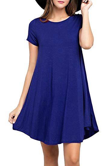 Kleid konigsblau knielang