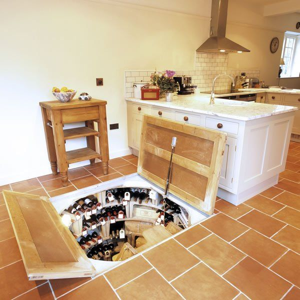 Wine cellar trap door hell i could even store my nintendo - Wine cellar trap door ...