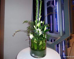 Large flower decoration for a reception