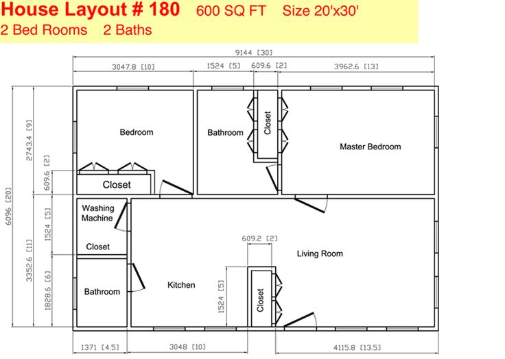 35 ft x 20 ft floor plans | Click To View/Print | Two ...